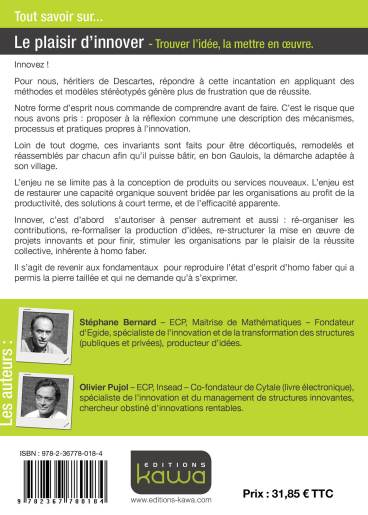 4ème Couverture - Le plaisir d'innover - O.Pujol S. Bernard